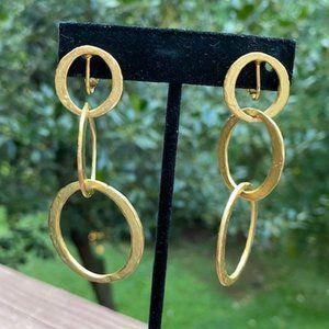 VTG Kenneth Lane Gold Loop Clip EARRINGS